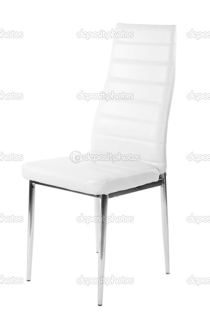 Weißer Stuhl Isoliert Auf Weiss Stockfoto Belchonock 30884995