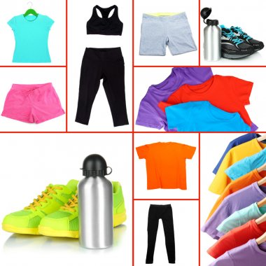 Collage of sportswear