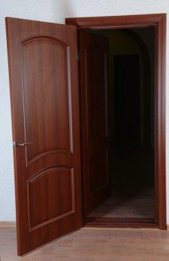 Double doors in empty room