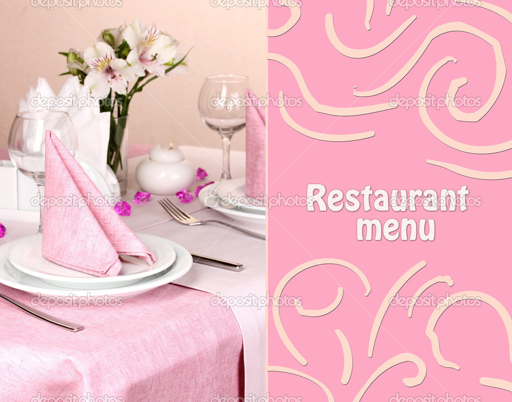 elegant table setting in restaurant u2014 stock photo belchonock