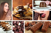 Fotografie Schokoladencollage