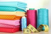 Cloth fabrics close up