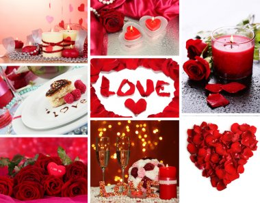Valentine's Day collage stock vector