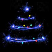 prskavky ve tvaru vánoční stromeček