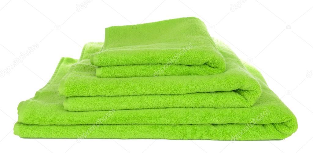 grüne handtücher