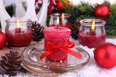 Vánoční svíčky zblízka