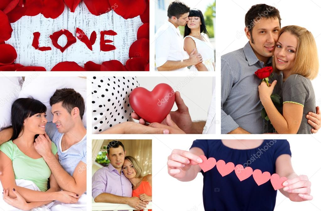 Collage Of Valentineu0027s Day. Beautiful Couples U2014 Photo By Belchonock