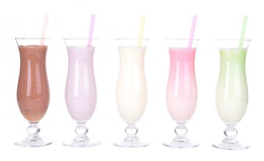 Milk shakes isolated on white