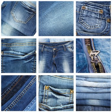 Jeans collage