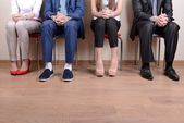 Fotografie Geschäftsleute, die warten auf Job-interview