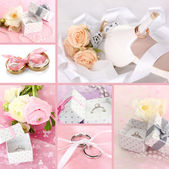 Fotografie Collage of wedding rings