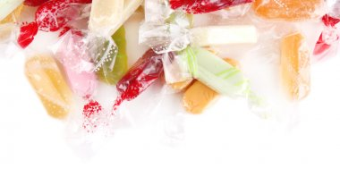 Tasty candies isolated on white