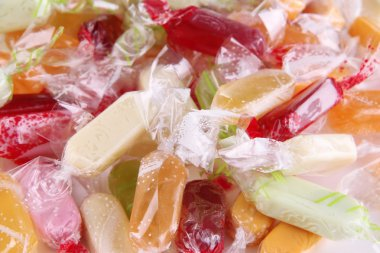 Tasty candies close up