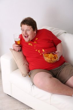 Lazy overweight male