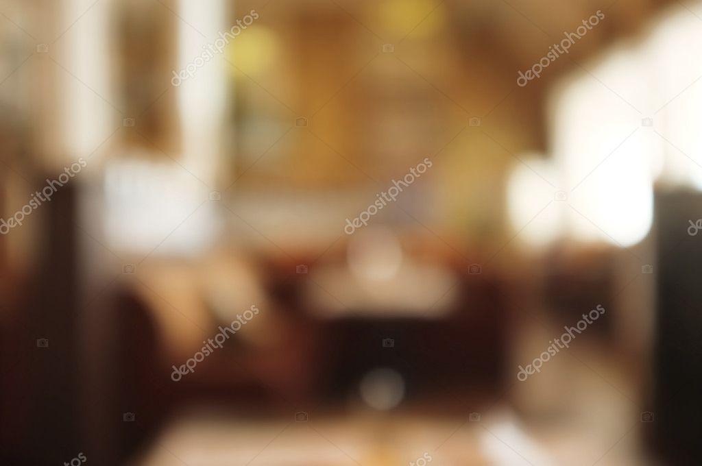 Interior of cafe, blur background