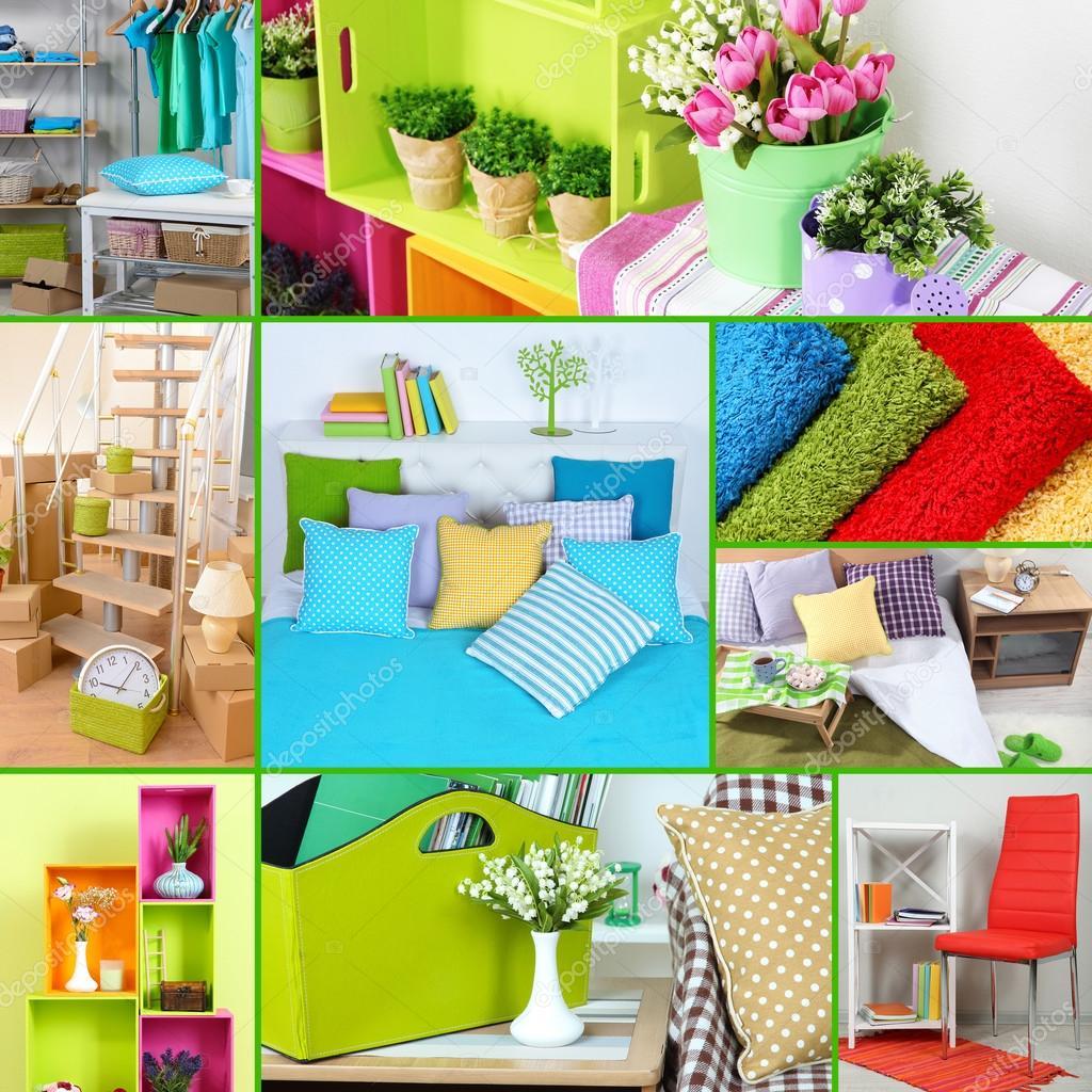 huis interieur collage — Stockfoto © belchonock #45903627