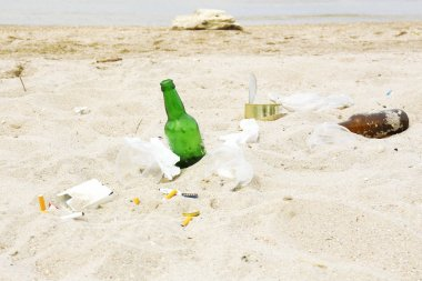 Garbage on the beach