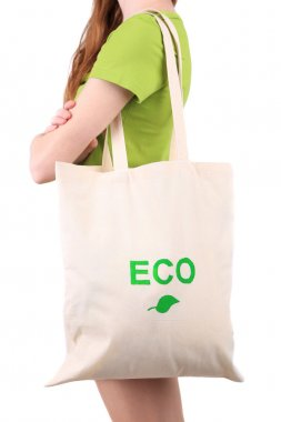 Woman with eco bag