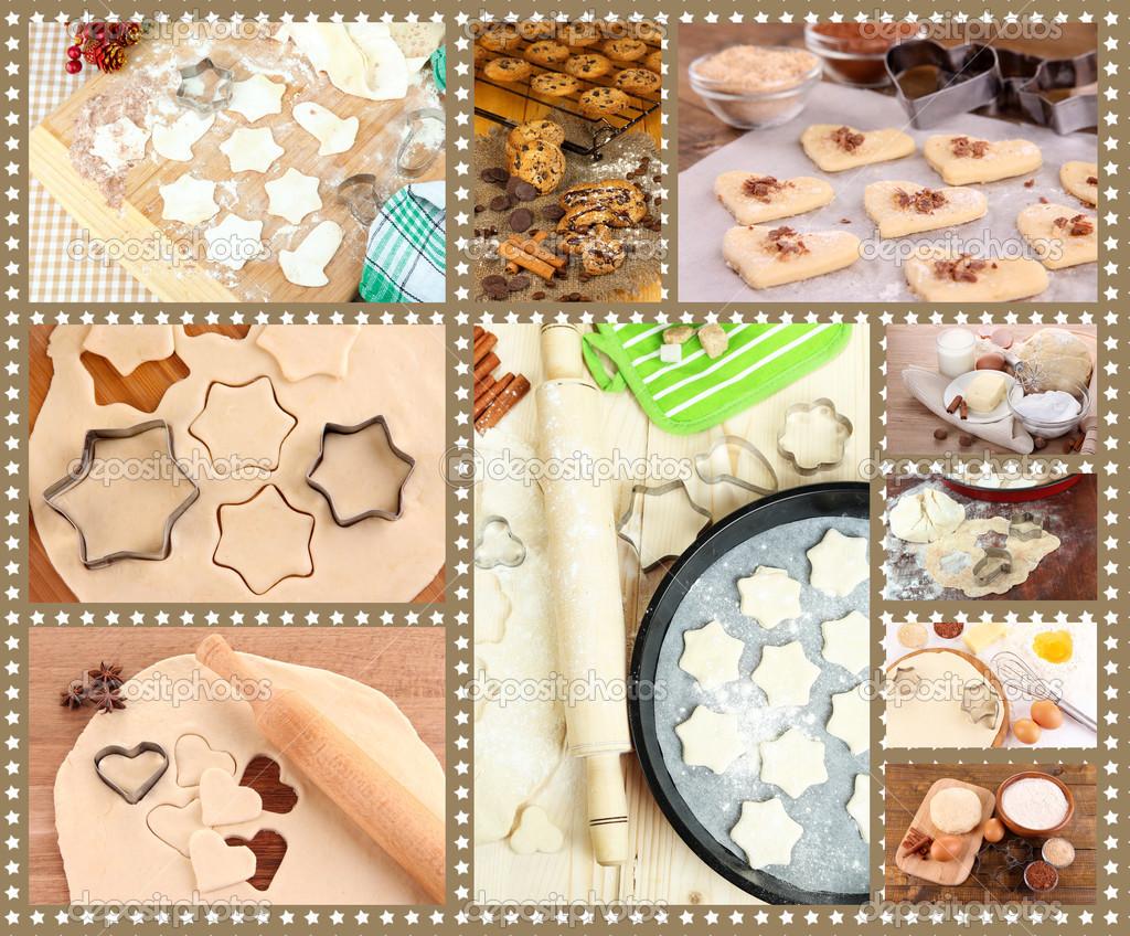 collage machen cookies — stockfoto © belchonock #46589219