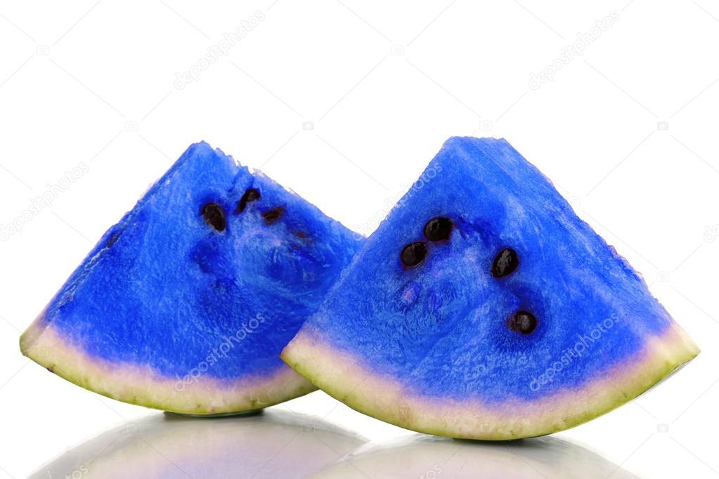 Картинки: синий арбуз. Кусочки голубой арбуз ...