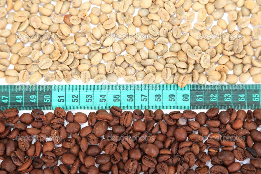 chicchi di caffè verde crudo per perdita di peso
