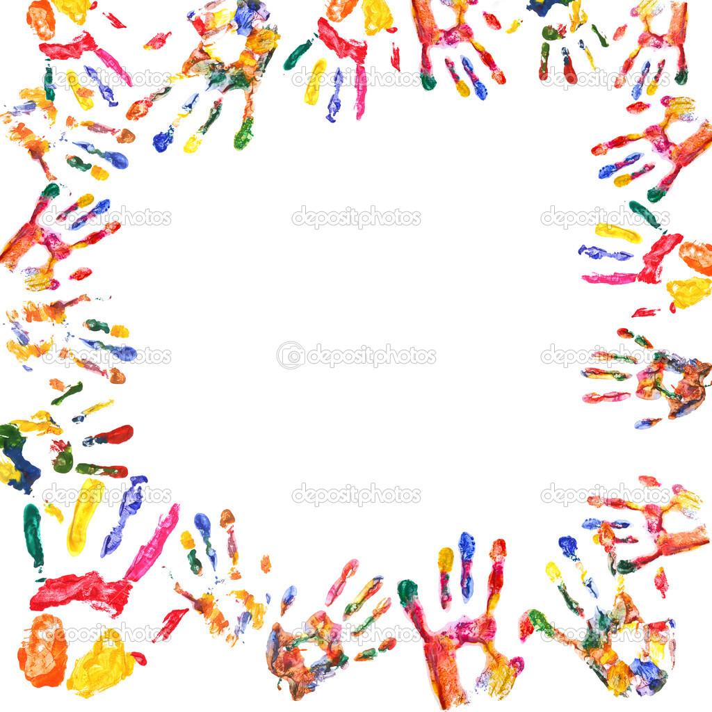 marco de manos de impresión color — Fotos de Stock © belchonock ...