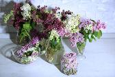 bellissimi fiori lilla in vaso
