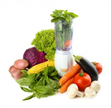 Blender with fresh vegetables
