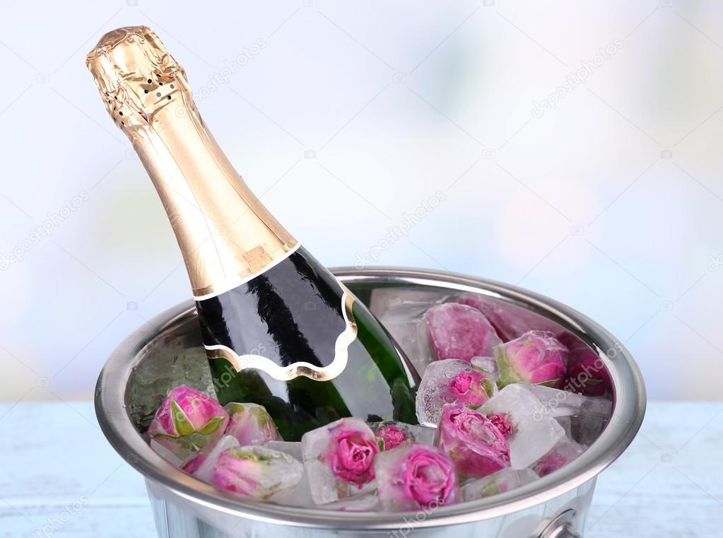 Champagne qui a congelé