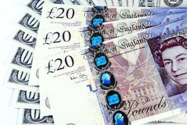 Background of English pound notes