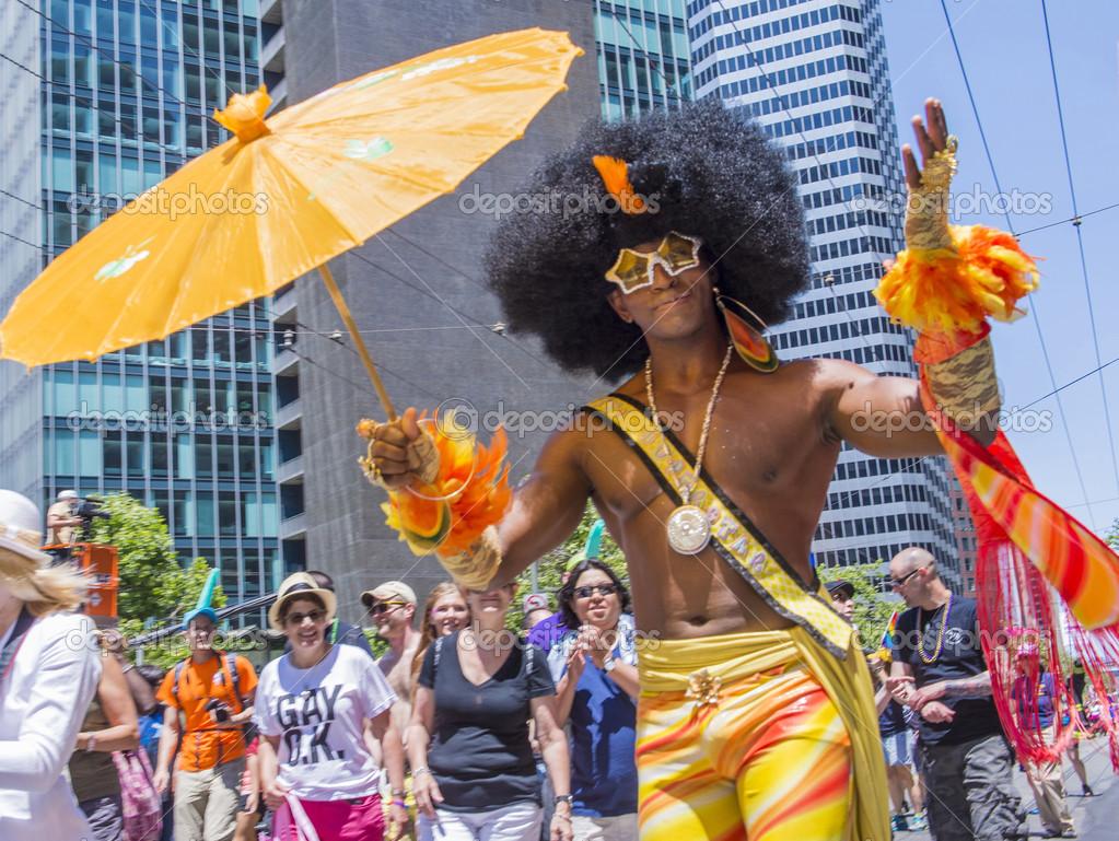 Crowed castro district during san francisco gay pride event in j editorial photo