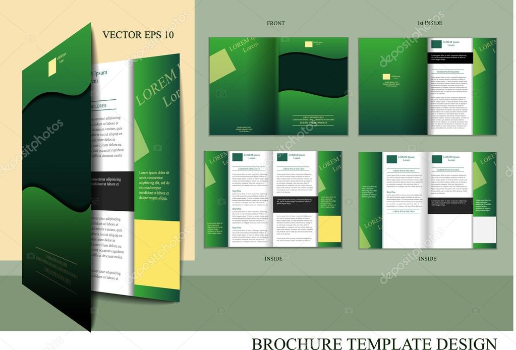 brosch re design vorlage stockvektor miobra 14941359. Black Bedroom Furniture Sets. Home Design Ideas