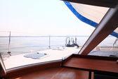 csónak lőrés vitorlás kilátás kék óceán tenger ég horizon