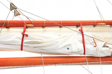Ship rigging on old yacht
