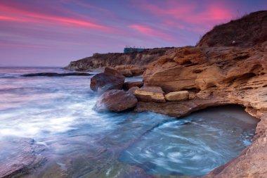 Beautiful rocky beach on Black sea, Bulgaria stock vector