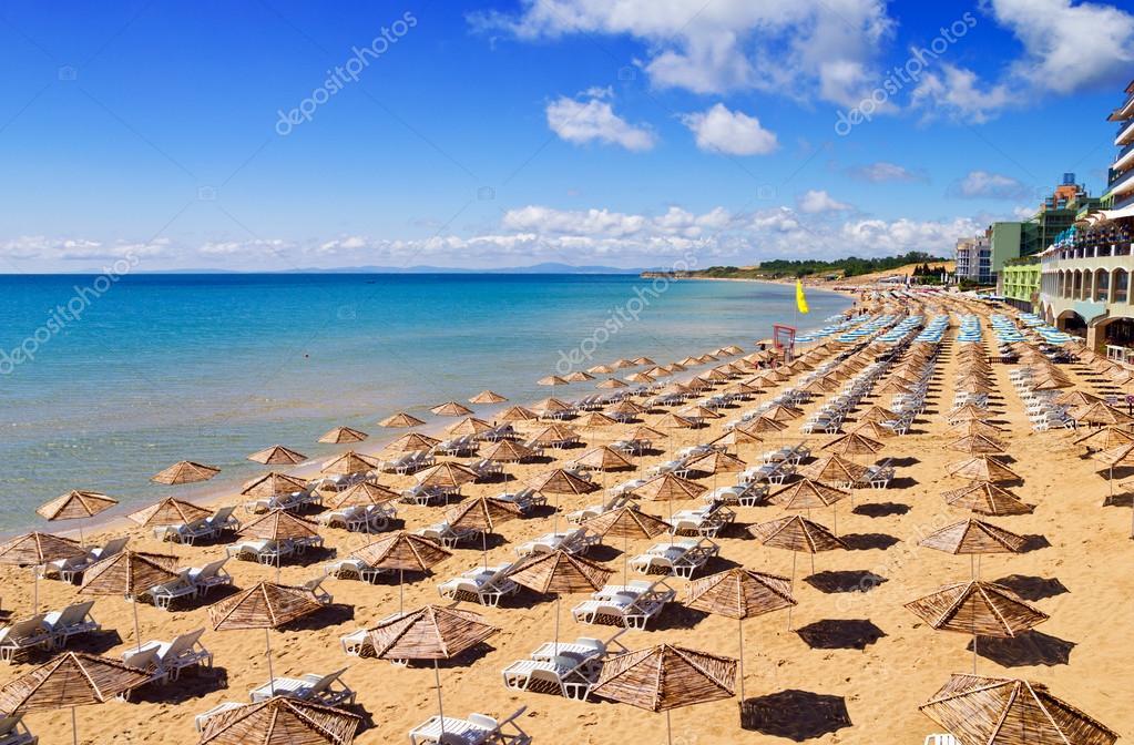 South Beach of Nessebar in summer