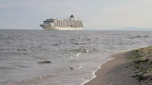 Passenger ship near to the beach