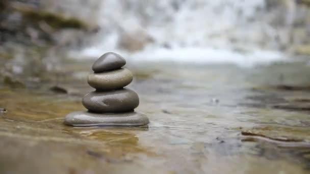 Zen stones and river
