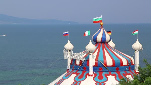 Circus tent near the sea