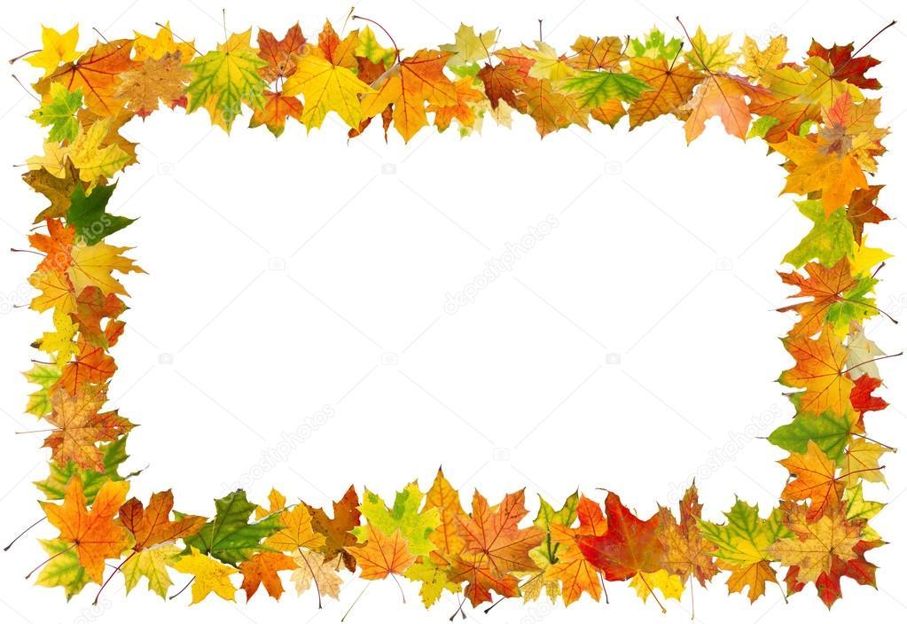 marco las hojas de otoño — Fotos de Stock © sserg_dibrova #28208691