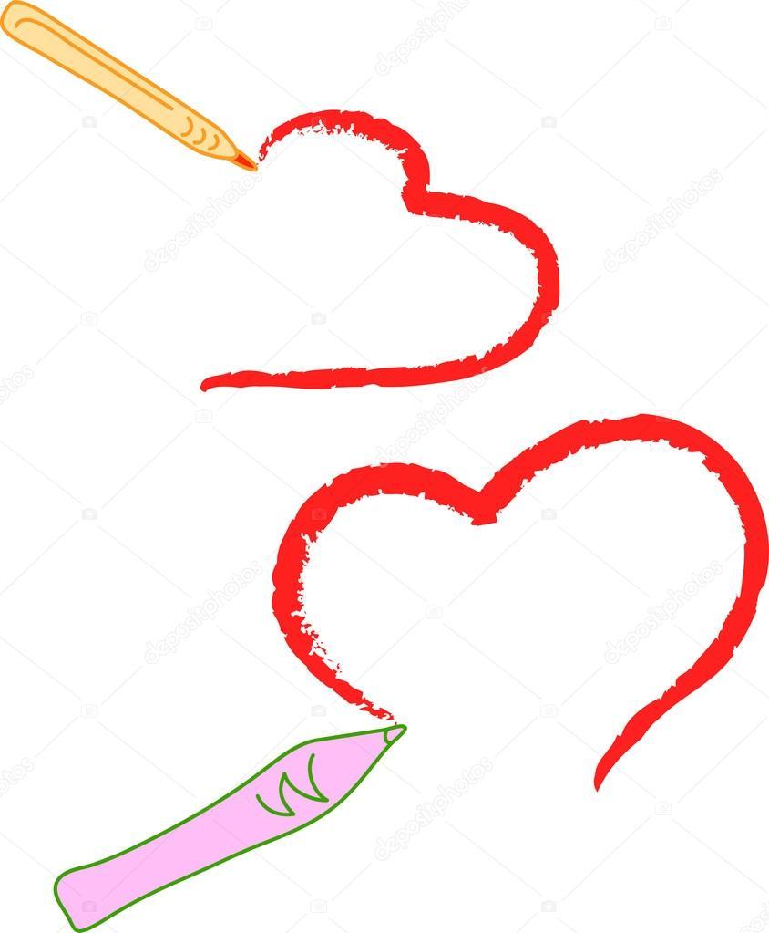 Srdce Kresba Stock Vektor C Johny007pandp 16339139