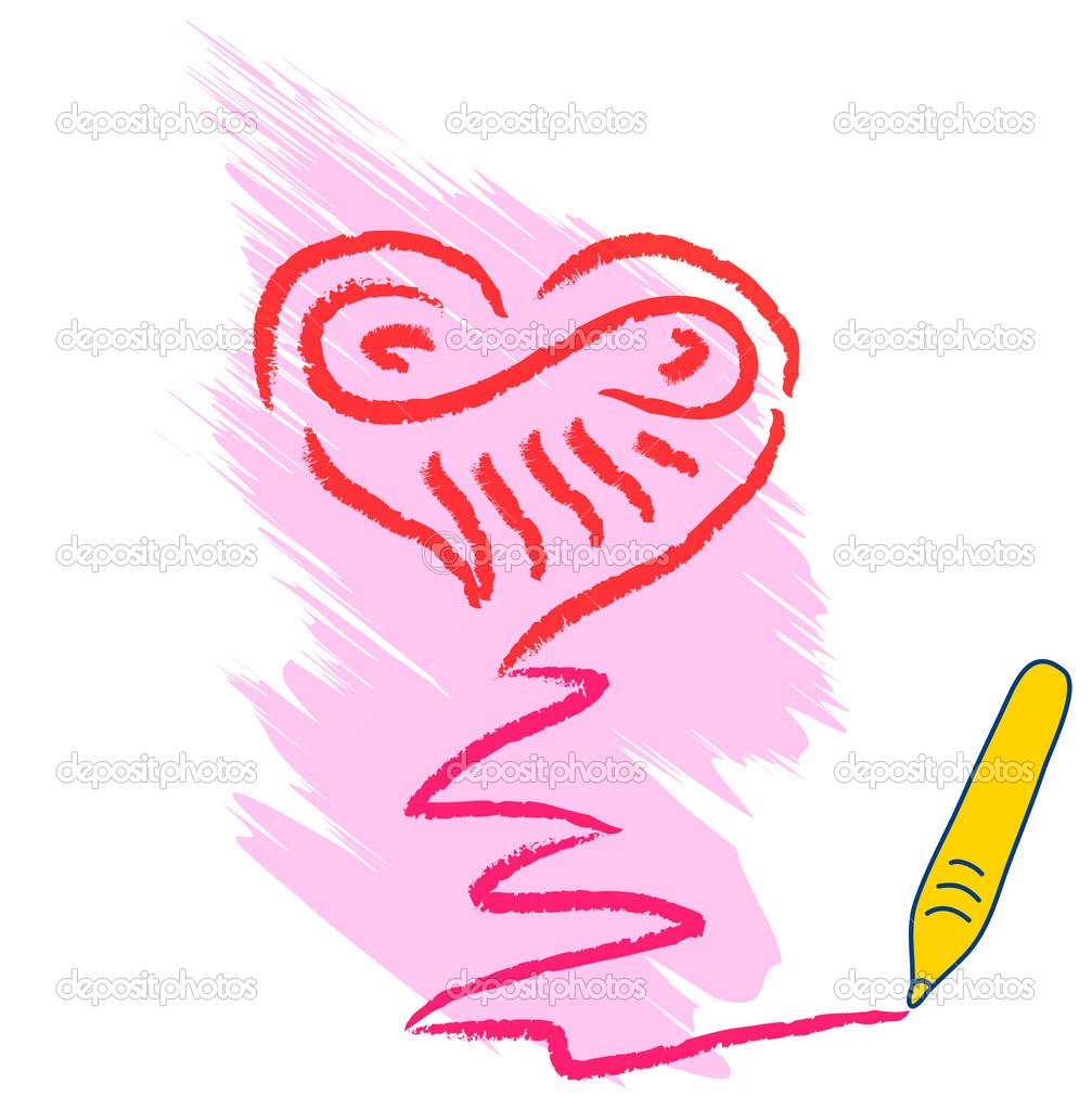 Srdce Kresba Stock Vektor C Johny007pandp 17368853