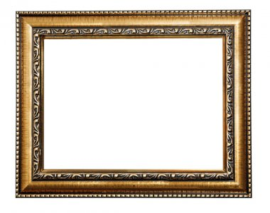 Golden frame isolated