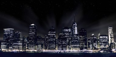 View night streets of New York