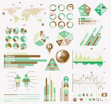 Premium Retro infographics eco collection