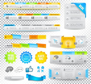 Collection of web elements - Various templates