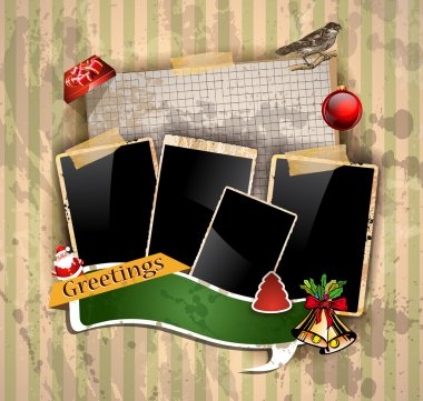 Christmas Vintage scrapbook composition
