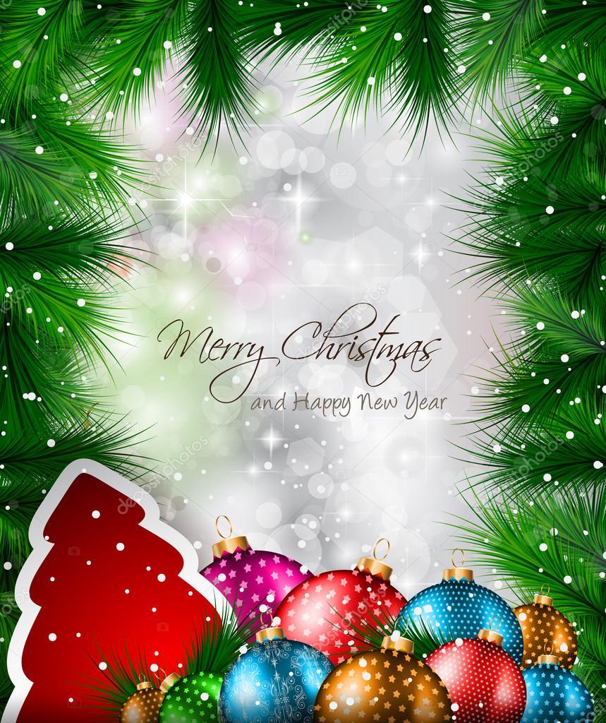 Elegante cl sico flyer de navidad con rbol de hojas - Arboles de navidad elegantes ...