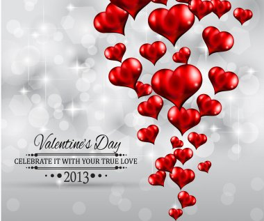 Valentine's Day party invitation flyer background with love themed elements. Ideal for cover or posters. clip art vector