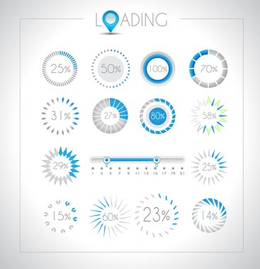 Set of Loading design elements